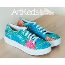 Sepatu ArtKeds Motif 2 no 40