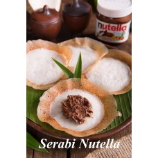 Serabi Topping Nutella de Keraton per 3 pcs