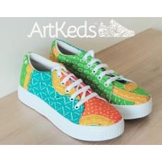 Sepatu ArtKeds Motif 1 no 40