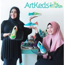 Sepatu ArtKeds Motif no 38-40/satuan
