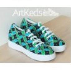 Sepatu ArtKeds Motif 3 no 39