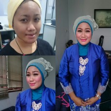 Makeup party/wisuda + hijab style
