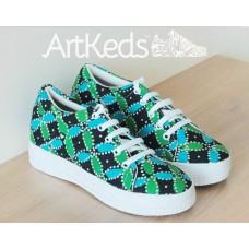 Sepatu ArtKeds Motif 3 no 37