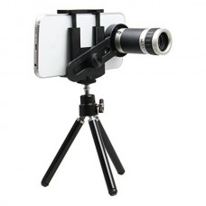 Mobile Phone Telescope Lensa 8x + Tripod