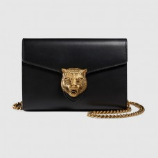 GUCCI Animalier leather chain mini bag