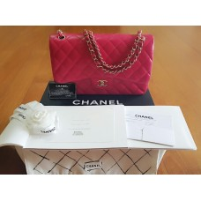 BNIB Chanel Jumbo Red Lambskin Light gold chain