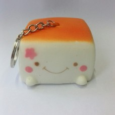 Squishy Keychains Tofu Cute Smile