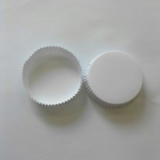 Cover Glass 8 cm (Putih Polos Tanpa Logo) Per Pack 100 Pcs