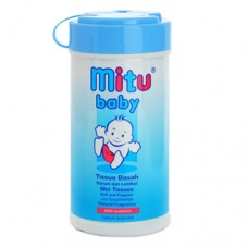 Tissue Mitu Bottle Baby Blue 60sheets