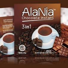 Minuman Coklat Alania 3 in 1 Per 10 sachet