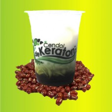 Cendol De Keraton Red Beans Cup 400 ml Per 5 pieces