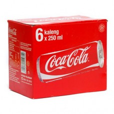 Coca-Cola Drink Can 250 ml Per pack ( 6 pieces )