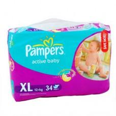 Popok Pampers Active Baby XL 34's