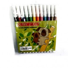 Snowman Small Marker Colour 12s