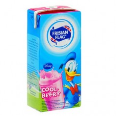Frisian Flag Milk Strawberry 190 ml Per pak ( 5 pieces )